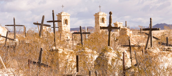 The Terlingua Cemetery.