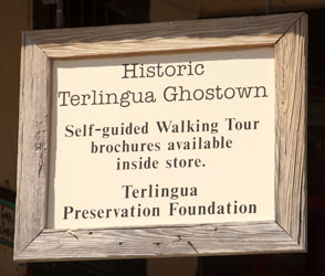 Sign for walking tour.
