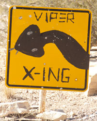 Viper Crossing sign.