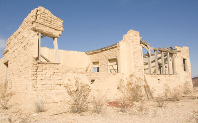 Ruins in the Ghost Town.