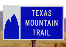 Sign for Texas Mountain Trail.